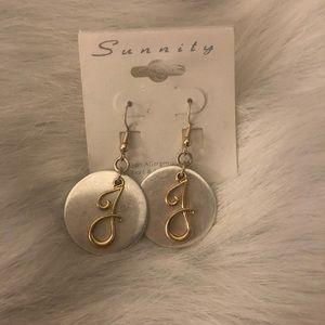 Jewelry - Initial Earrings Letter J